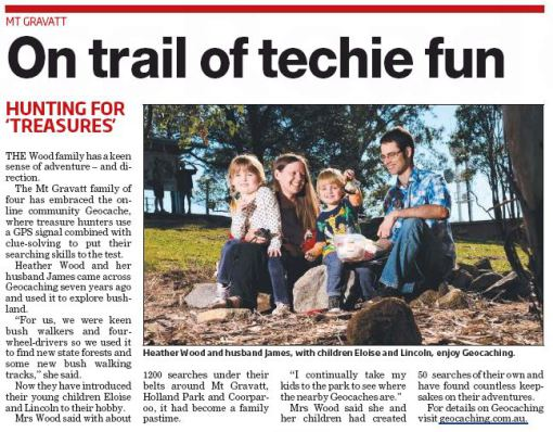 Geocaching family - Southern Star - Sept 2014