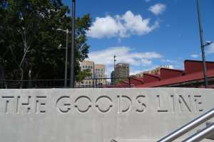 The Goods Line - sign - 22 Sept 2015