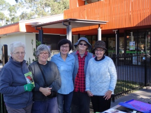 Mitchelton Organic Gardners - L to R - Joan, Anne-Mary, Christina, Sandra, Wendy